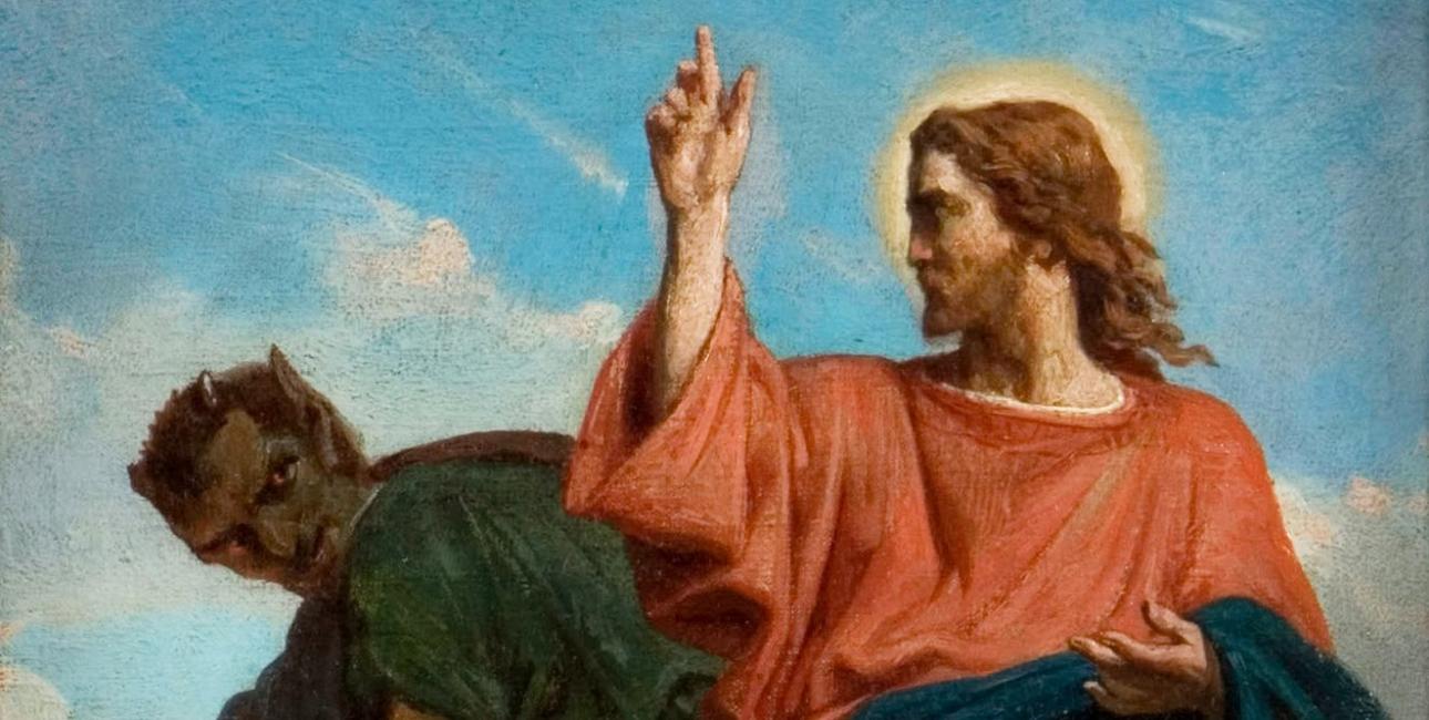 Satan. Maleri af Félix-Joseph Barrias, ca. 1860.