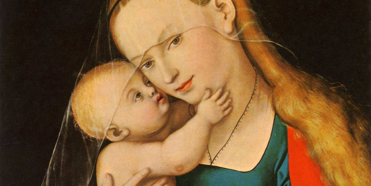 Maria med Jesusbarnet. Maleri af Lucas Cranach den ældre.