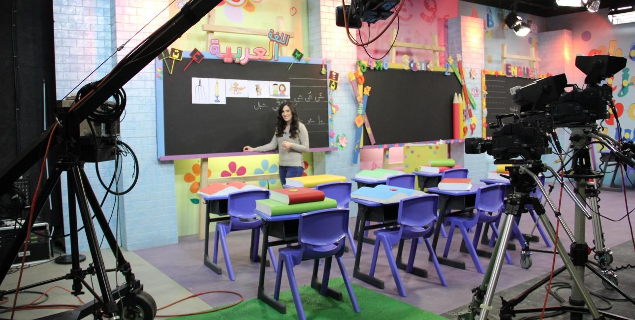 Grace El Najjar, lærerinde på SAT-7's Min Skole. Foto: SAT-7