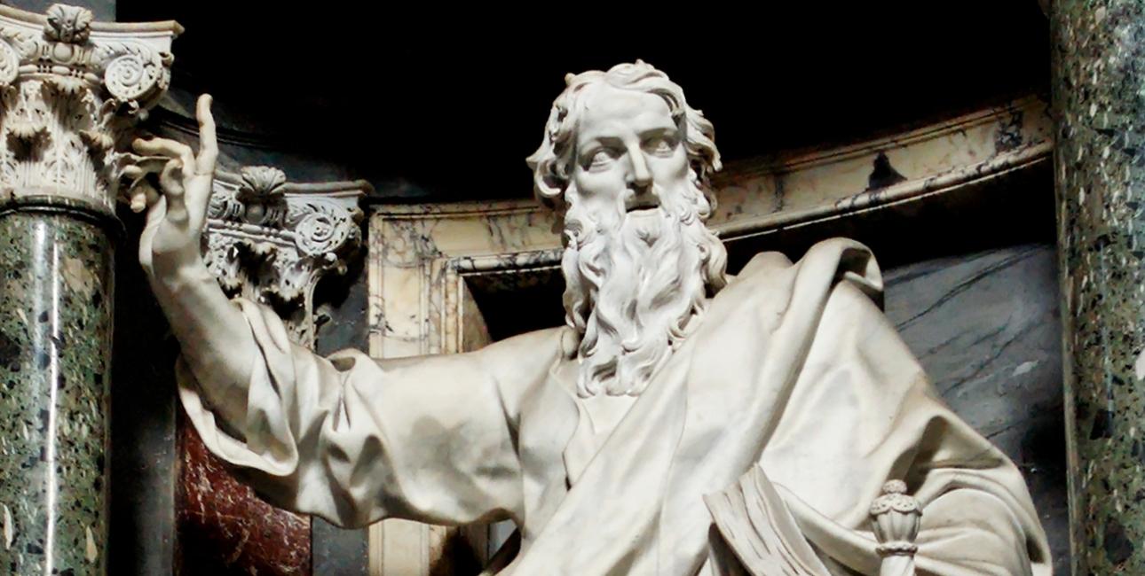 Paulus, statue fra Laterankirken i Rom. Kilde: Wikimedia Commons.