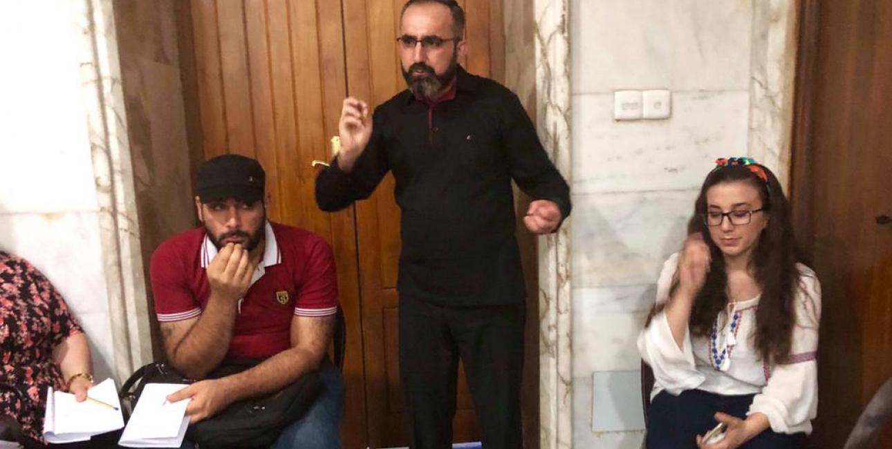 Fader Younan, kursusleder i bibelsk sjælesorg, Qaraqosh - smal. Foto: Lina Musharbash