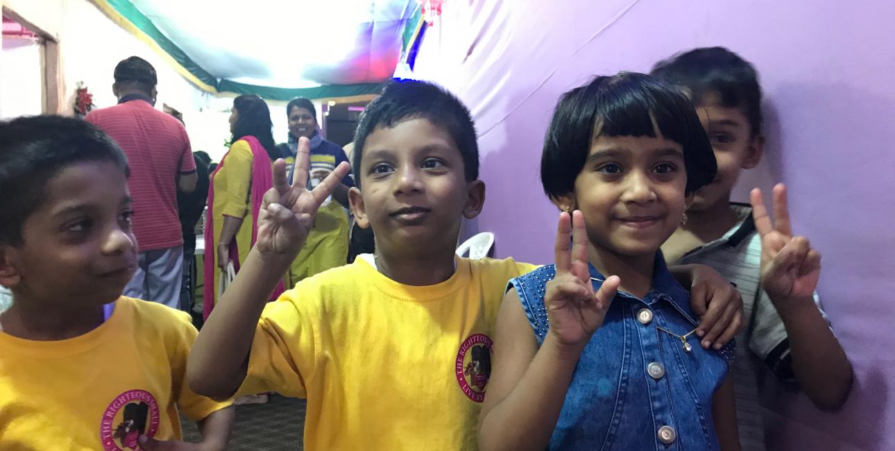 Glade børn. Foto: De Forenede Bibelselskaber