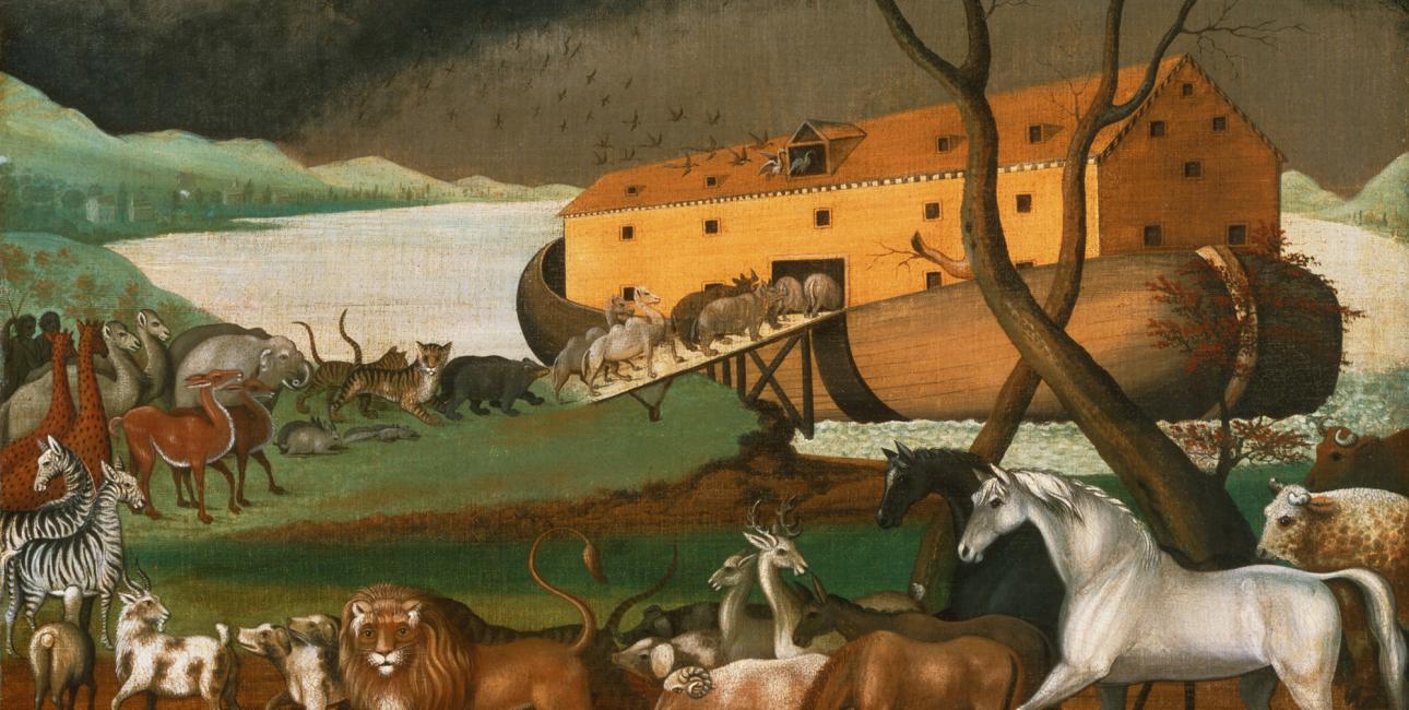 Noas ark. Maleri af Edward Hicks, 1846. Kilde: Wikimedia Commons.
