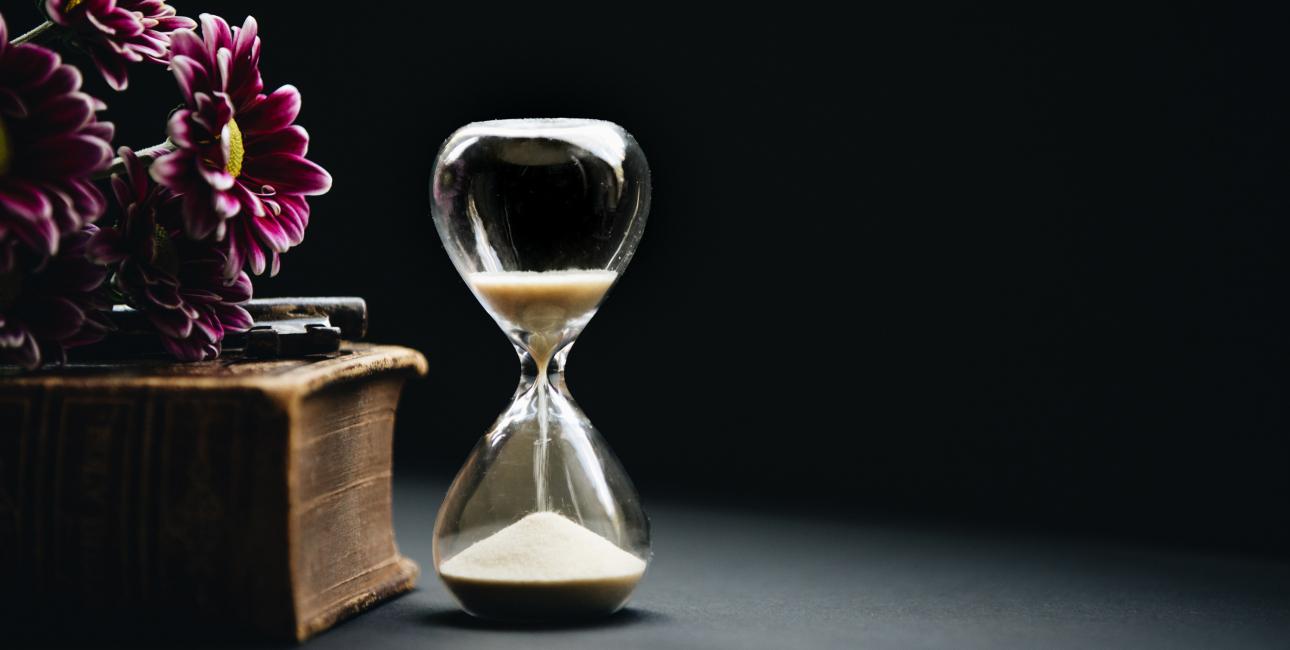 Timeglas. Foto: Unsplash.