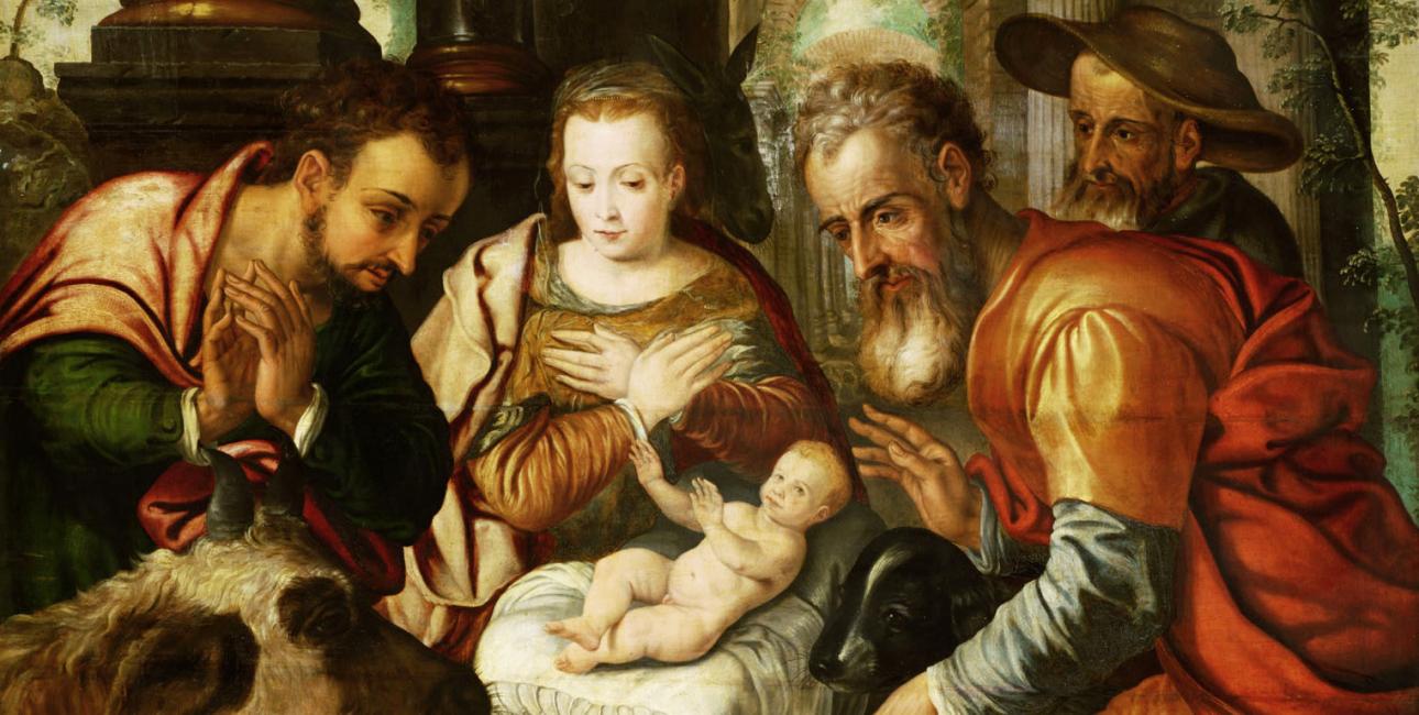 Hyrdernes tilbedelse. Anonym kunstner, Tyskland ca. 1560. Kilde: Wikimedia Commons.