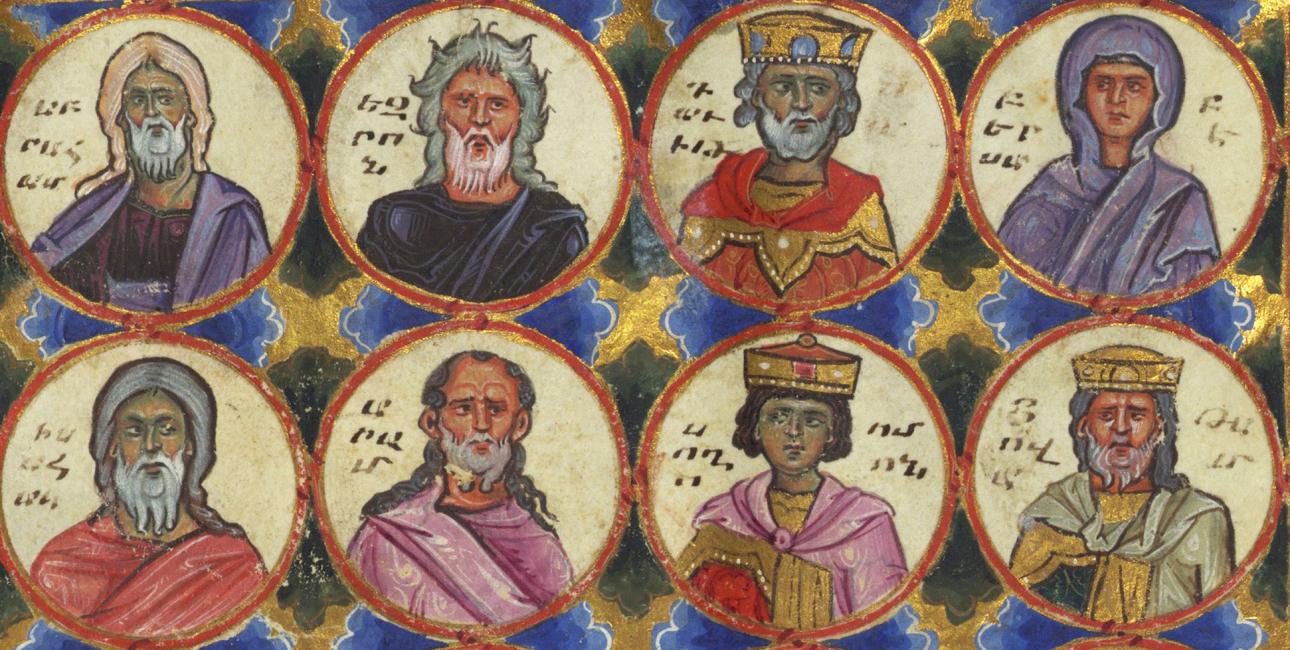 Stamtræ fra Bibelen. Illustration af Toros Roslin, 1200-tallet. Kilde: Wikimedia Commons.