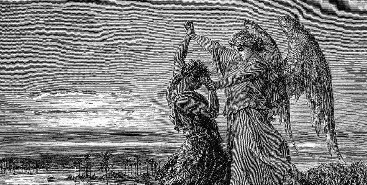 Jakobs kamp. Illustration: Gustave Doré.