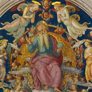 """God the Father, and Angels"" - af Pietro Perugino"