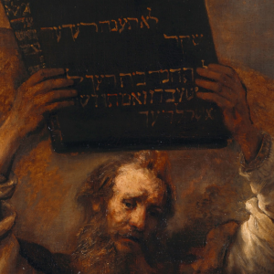 Moses with the Ten Commandments - Rembrandt