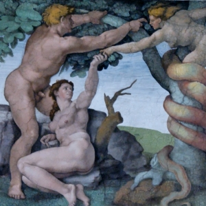 The Downfall of Adam and Eve and their Expulsion from the Garden of Eden.
