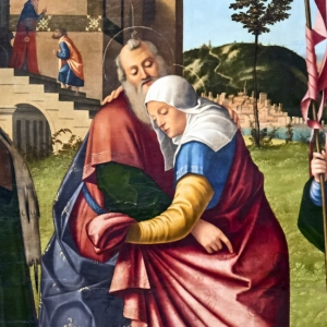 Meeting of Joachim and Anna at the Golden Gate. Findes på Accademia of