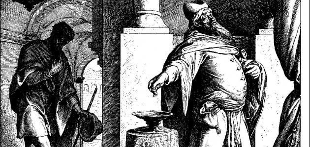 Farisæeren og tolderen - Julius Schnorr von Carolsfeld
