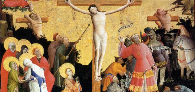 Legenden om Longinus er baseret på Johannesevangeliet 19,34. Her beskrives det, hvordan den romerske soldat Longinus stak Jesus i siden, mens han hang på korset. Foto: Wikimedia Commons.