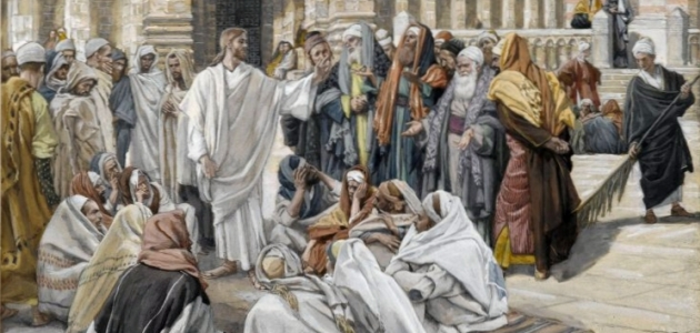 'The Pharisees Question Jesus' - James Tissot