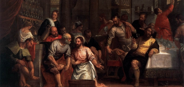 Christ Washing the Feet of the Disciples - Paolo Veronese