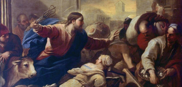 Expulsion of the Moneychangers from the Temple - Luca Giordano
