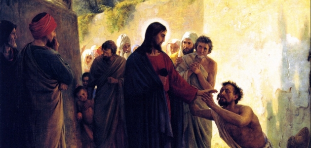 Healing of the Blind Man by Jesus Christ - Carl Bloch
