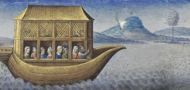 Noas ark. Illustration af Jean Colombe, ca. 1470-80. Kilde: Wikemedia Commons.